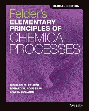 Felder′s Elementary Principles of Chemical Processes