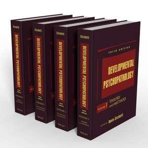 Developmental Psychopathology, 4 volume Set