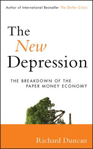 The New Depression: The Breakdown of the Paper Money Economy de Richard Duncan