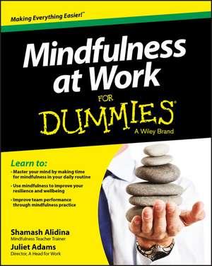 Mindfulness at Work For Dummies de Shamash Alidina