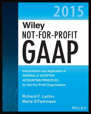 Wiley Not–for–Profit GAAP 2015