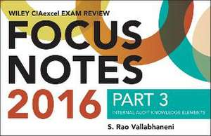 Wiley CIAexcel Exam Review 2016 Focus Notes