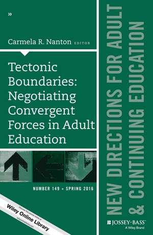 Tectonic Boundaries: Negotiating Convergent Forces in Adult Education