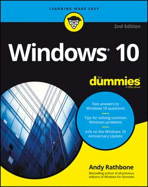 Windows 10 For Dummies de Andy Rathbone