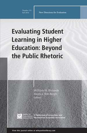 Evaluating Student Learning in Higher Education