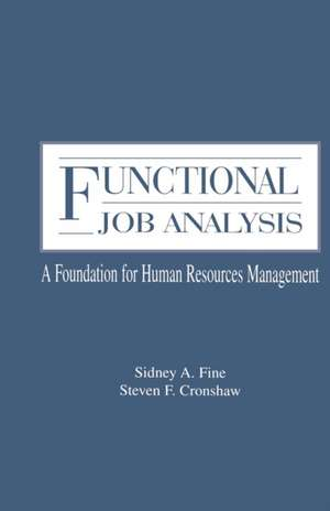 Functional Job Analysis de Sidney A. Fine