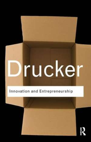 Innovation and Entrepreneurship de Peter F. Drucker