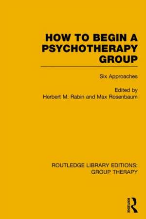 How to Begin a Psychotherapy Group (Rle