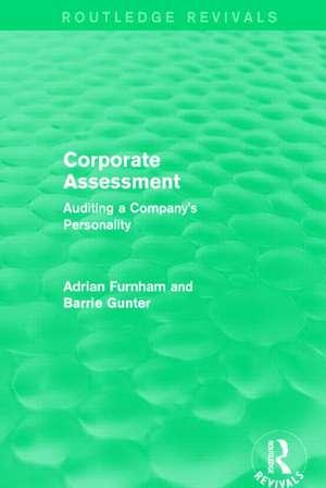 Corporate Assessment de Adrian F. Furnham