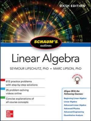 Schaum's Outline of Linear Algebra, Sixth Edition de Seymour Lipschutz