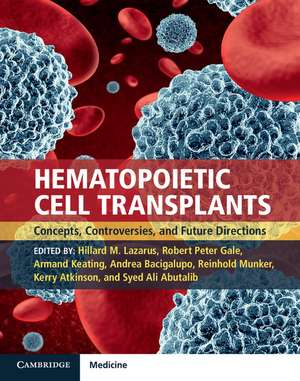 Hematopoietic Cell Transplants Hardback with Online Resource
