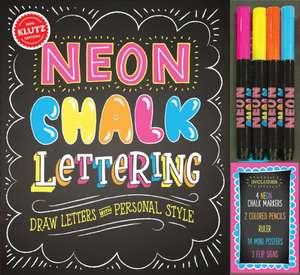 Neon Chalk Lettering de Klutz