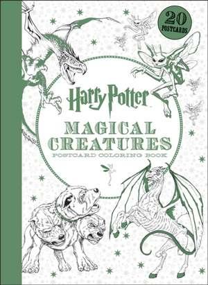 Carti postale de colorat Harry Potter Magical Creatures