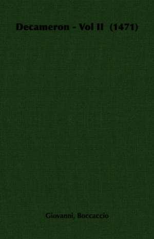 Decameron - Vol II (1471) de Giovanni Boccaccio
