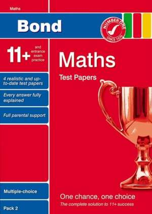 Lindsay, S: Bond 11+ Test Papers Maths Multiple-Choice Pack