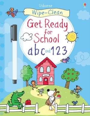 Wipe-Clean Get Ready for School ABC and 123 de Sam Taplin