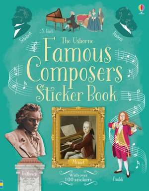 Famous Composers Sticker Book de Anthony Marks