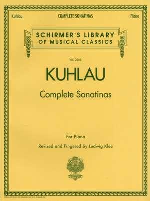Kuhlau - Complete Sonatinas for Piano: Schirmer Library of Classics Volume 2065 de Friedrich Kuhlau