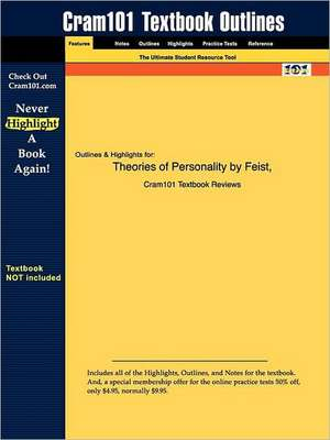 Studyguide for Theories of Personality by Feist, Feist &, ISBN 9780072316797 de 5th Edition Feist and Feist