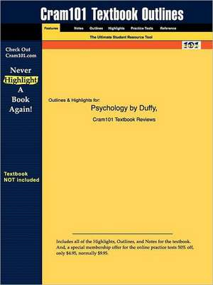 Studyguide for Psychology by Duffy, ISBN 9780072861495 de 25th Edition Duffy