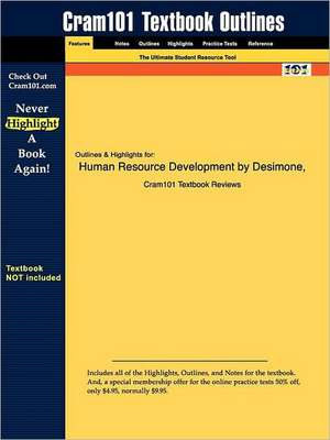 Studyguide for Human Resource Development by Harris, ISBN 9780030319327 de And Wern Desimone and Werner and Harris