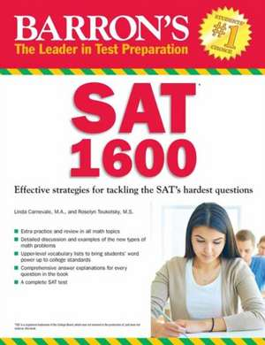 Barron's SAT 1600:  Revised for the New SAT de Linda Carnevale