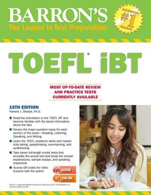 Barron's TOEFL Ibt with MP3 Audio CDs 15th Edition