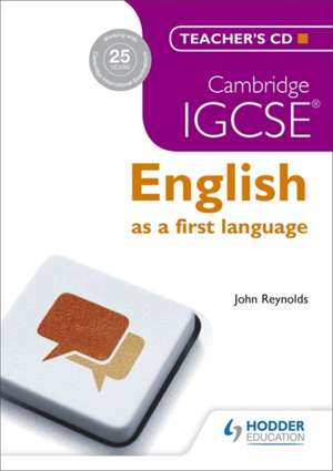 Cambridge IGCSE English First Language Teacher's CD 3ed