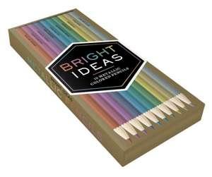 """Creioane de colorat metalice """"Bright Ideas"""" de Chronicle Books"""