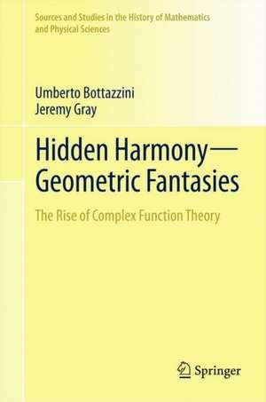 Hidden Harmony—Geometric Fantasies: The Rise of Complex Function Theory de Umberto Bottazzini