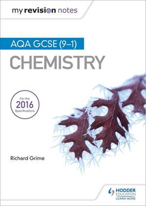 My Revision Notes: AQA GCSE (9-1) Chemistry imagine