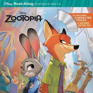 Zootopia Read-Along Storybook & CD de Disney Book Group
