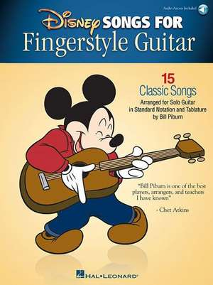 Disney Songs for Fingerstyle Guitar: 15 Classic Songs Arranged by Solo Guitar in Standard Notation and Tablature de Bill Piburn