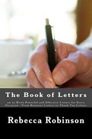 The Book of Letters de Rebecca Robinson