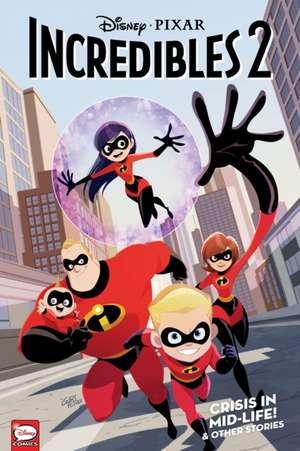 Disney-Pixar the Incredibles 2: Crisis in Mid-Life! & Other Stories (Graphic Novel) de  Disney