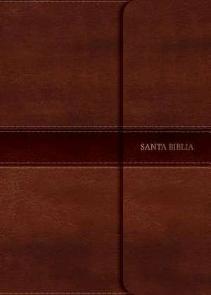 NVI Biblia Compacta Letra Grande Marron, Simil Piel Con Solapa Con Iman de B&h Espanol Editorial