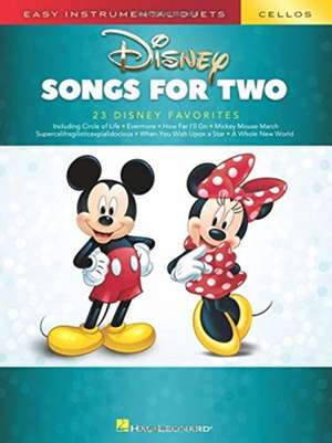 Disney Songs for Two Cellos: Easy Instrumental Duets de  Hal Leonard Corp