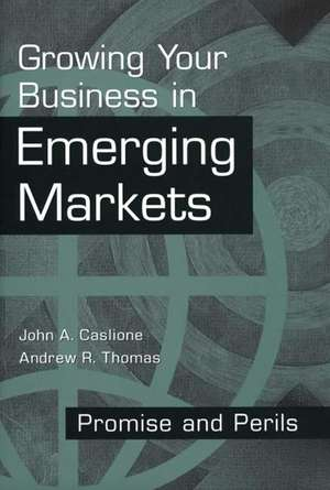 Growing Your Business in Emerging Markets:  Promise and Perils de John A. Caslione
