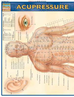 Acupressure Laminate Reference Chart de BarCharts Inc
