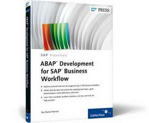 ABAP Development for SAP Business Workflow de Ilja-Daniel Werner