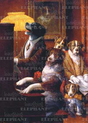 Dogs Playing Piano - Birthday Greeting Card de Cassius Marcellus Coolidge