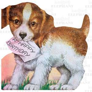 Puppy & Birthday Note - Greeting Card de Blue Lantern Publishing