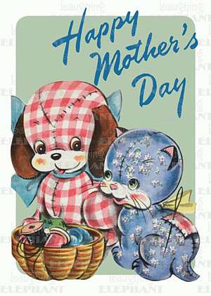Toy Dog & Cat - Mother's Day Greeting Card de Blue Lantern Publishing
