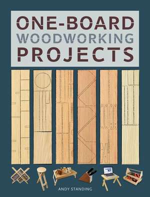 One-Board Woodworking Projects de Andy Standing