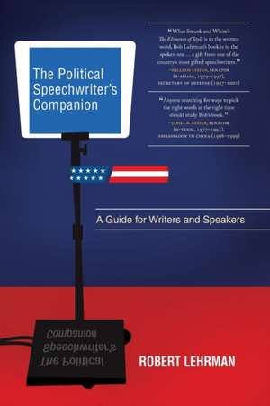 The Political Speechwriter's Companion