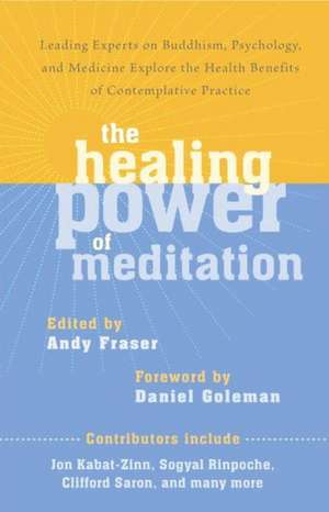 The Healing Power of Meditation:  Leading Experts on Buddhism, Psychology, and Medicine Explore the Health Benefits of Contemplative Practice de Andy Fraser