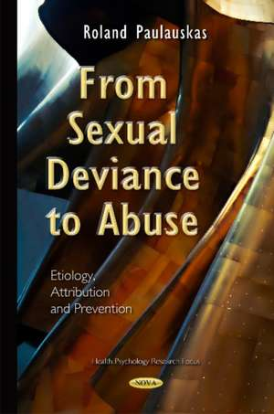 From Sexual Deviance to Abuse imagine