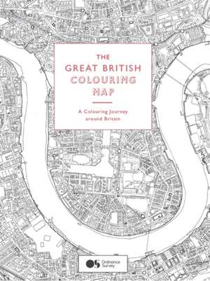 Great British Colouring Map: A colouring journey around Britain