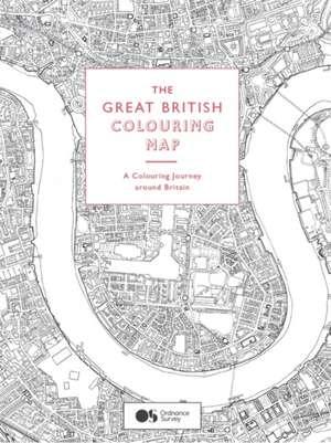 Great British Colouring Map, The:A Colouring Journey Around Brita de  Ordnance Survey