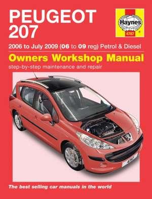 Peugeot 207 Petrol & Diesel (06 - July 09) Haynes Repair Manual de  Haynes Publishing